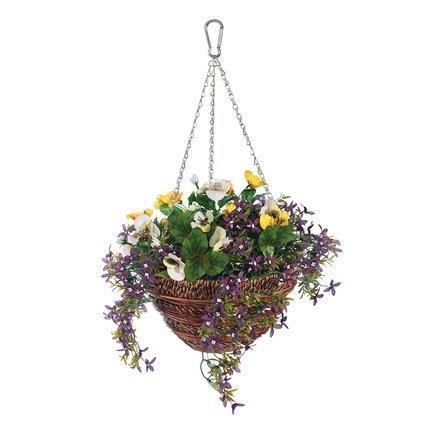 Gardman Корзина с цветами подвесная Artificial Pansy & Lobelia 02843 Gardman