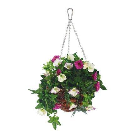 Gardman Корзина с цветами подвесная Artificial Petunia, 30 см 02844 Gardman корзина подвесная для цветов gardman диаметр 35 см 02194