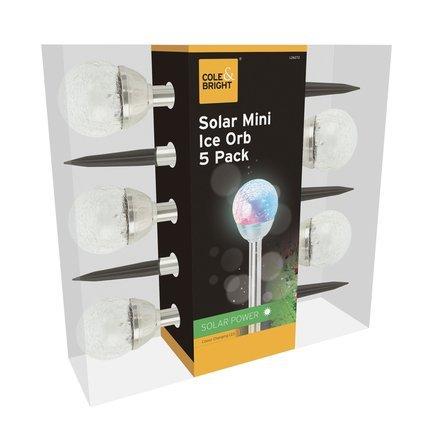 Gardman Фонарь уличный Solar Mini Ice Orb, 5 шт. L26272 Gardman цена