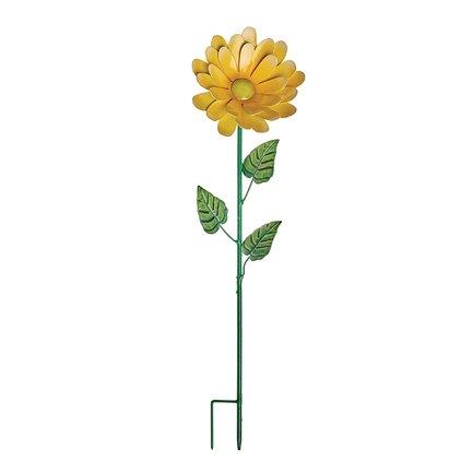 Gardman Штекер садовый Gerbera, 50 см, желтый 09834 Gardman gardman фонарь уличный на крючке coach light 86 см l21016 gardman