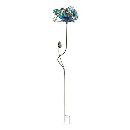 Gardman Штекер садовый Glass Butterfly, 75 см, голубой 09774 Gardman gardman фонарь уличный на крючке coach light 86 см l21016 gardman