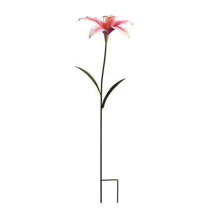 Gardman Штекер садовый Oriental Lily, 75 см, розовый 09877 Gardman gardman фонарь уличный на крючке coach light 86 см l21016 gardman