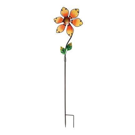 Gardman Штекер-флюгер садовый Glass Flower, 92 см, оранжевый 07937 Gardman флюгер малый duckdog мф 80013