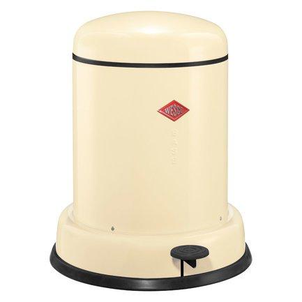 Ведро для мусора с педалью (8 л), бежевое 134131-23 Wesco ведро для мусора plastic centre с педалью цвет мраморный темно серый 6 л