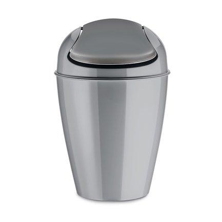 Корзина для мусора с крышкой Del S (5 л), серая 5777632 Koziol золотые серьги листья sokolov