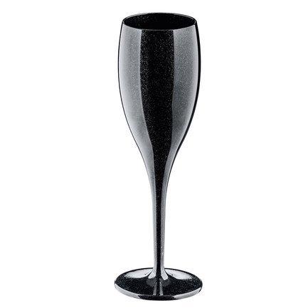 Набор бокалов для шампанского Superglas Cheers No. 1 (100 мл), 4 шт, черный 3588526 Koziol