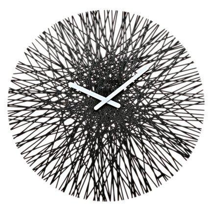 Часы настенные Silk, 45 см, черные 2328526 Koziol