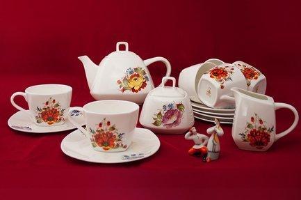 Чайный сервиз Варвара на 6 персон, 15 пр. 71550А Akky