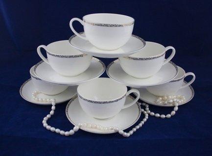 Набор чайных пар Изольда на 6 персон, 12 пр. 71252А Akky
