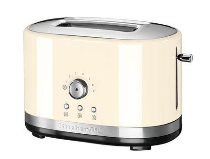 Фото - Тостер на 2 хлебца, ручное управление, кремовый 5KMT2116EAC KitchenAid тостер artisan на 4 хлебца карамельное яблоко 5kmt4205eca kitchenaid