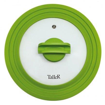 Крышка силиконовая, 20-22-24 см, зеленая TR-8006 Taller