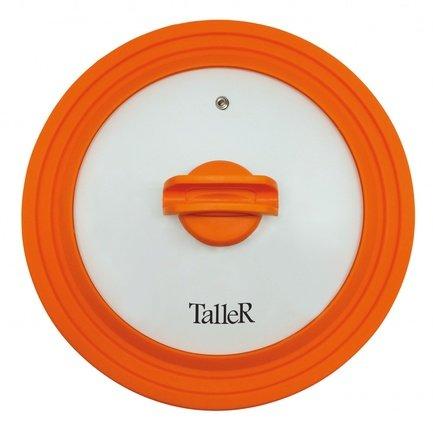Крышка силиконовая, 24-26-28 см, оранжевая TR-8007 Taller
