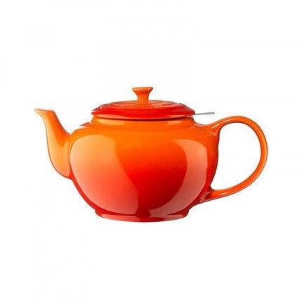 Чайник заварочный (1.3 л), с ситечком, оранжевая лава (91010038091415) 00037313 Le Creuset чайник заварочный sij летний сад 1 л