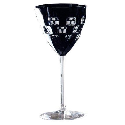Фужер для вина Domino (180 мл), черный 1/65963/51465/48525 Ajka Crystal фужер для вина st louis 220 мл зеленый 1 15738 47127 40371 ajka crystal
