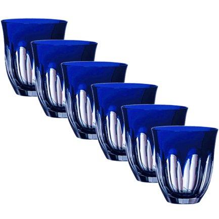 цена Набор стаканов низких Loreley (320 мл), синих, 6 шт 64592/51354/48332 Ajka Crystal онлайн в 2017 году