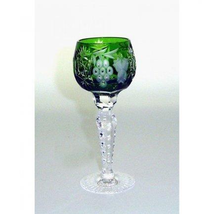 Рюмка для ликера Grape (60 мл), темно-зеленая 1/emerald/64575/51380/48359 Ajka Crystal