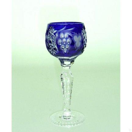 Рюмка для ликера Grape (60 мл), синяя 1/cobaltblue/64575/51380/48359 Ajka Crystal