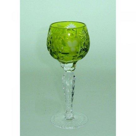 Рюмка для ликера Grape (60 мл), светло-зеленая 1/reseda/64575/51380/48359 Ajka Crystal