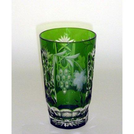Стакан высокий Grape (390 мл), темно-зеленый 1/emerald/64579/51380/48359 Ajka Crystal брюки женские only цвет темно зеленый 15173308 grape leaf размер 40 46