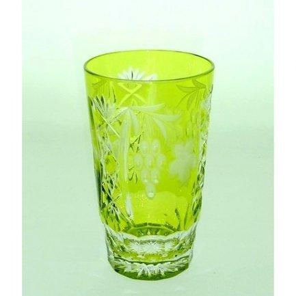 Стакан высокий Grape (390 мл), светло-зеленый 1/reseda/64579/51380/48359 Ajka Crystal рюмка ajka crystal st louis reseda 70 мл