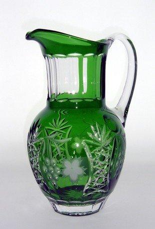 Кувшин Grape (1.2 л), темно-зеленый emerald/64571/51380/48359 Ajka Crystal брюки женские only цвет темно зеленый 15173308 grape leaf размер 40 46