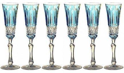 цена на Набор фужеров для шампанского St. Louis (120 мл), светло-голубых, 6 шт 16228/47127/40371 Ajka Crystal