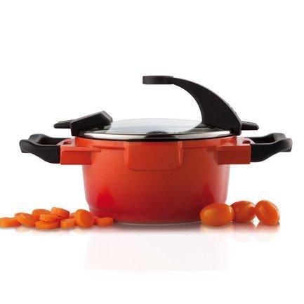 Кастрюля с крышкой Virgo Orange (1.5 л), 16 см 2304900 BergHOFF кастрюля с крышкой 24 см 6 6 л berghoff virgo 2304211