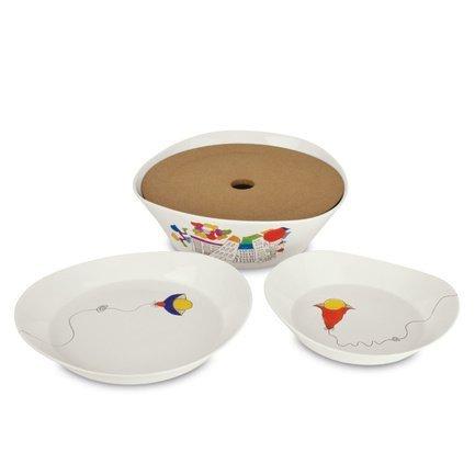 Набор тарелок для супа Eclipse ornament, 20 см, 2 пр. 3705004 BergHOFF набор для микроволновки 2 пр bekker набор для микроволновки 2 пр