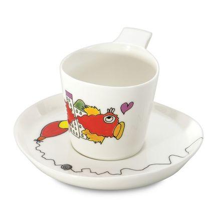 набор кофейный cnglass чайная пара канопус 110 мл 4 шт комплект tz07002 стекло Чайная пара Eclipse ornament (240 мл), 2 шт. 3705007 BergHOFF