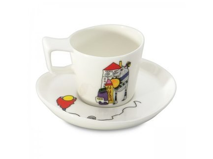 Чашки для эспрессо с блюдцем Eclipse ornament (80 мл), 2 шт. 3705022 BergHOFF