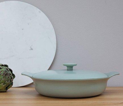 Сотейник чугунный Ron (3.3 л), 28 см, зеленый 3900043 BergHOFF сотейник gipfel 2477 weller 28 см 3 8 л