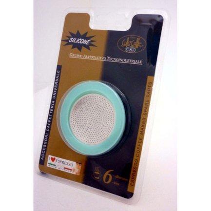Фильтр из алюминия для гейзерной кофеварки на пол чашки Blister Spare Parts 105002RI1SIL G.A.T.