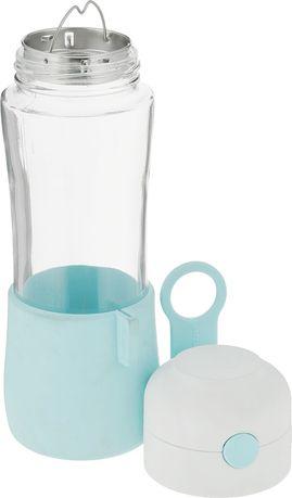 Бутылка для воды с крышкой (0.5 л), закаленное стекло IJ-937B Glasslock бутылка для воды 1 л sigg traveller 8327 00 светло серая