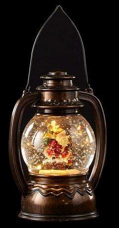 Старинный фонарь декоративный Санта, 14х11х19.7 см, мультиколор, коричневый