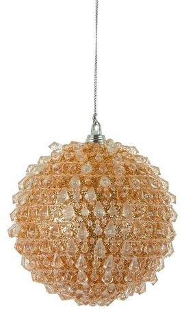 Подвеска декоративная Шар, 10.5 см, золото