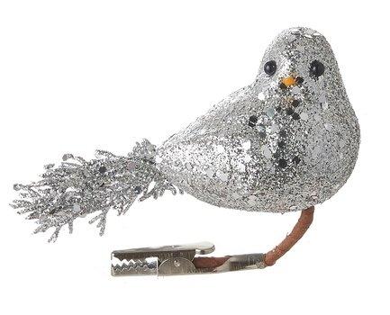 Птица декоративная, 14х13 см, серебро, клипса, 48шт. 83401 Triumph Nord магнолия декоративная 20 см серебро блеск клипса 83434 triumph nord
