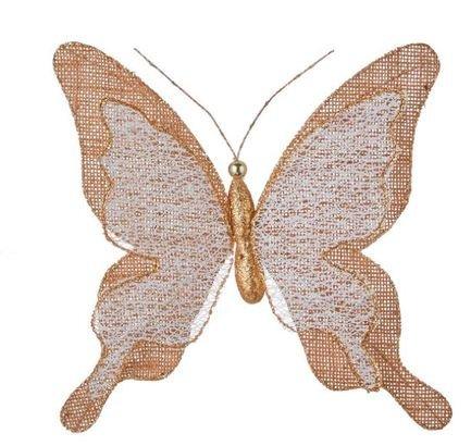 Бабочка декоративная, 18 см, коричневая, клипса, 10шт. 83582 Triumph Nord магнолия декоративная 20 см серебро блеск клипса 83434 triumph nord