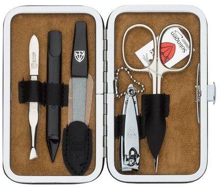 Маникюрный набор Solingen Kellermann L 58361 F N, 5 пр. футляр кожаный, чёрный