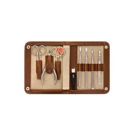 Маникюрный набор Mertz A8422D, 8 пр., футляр коричневый