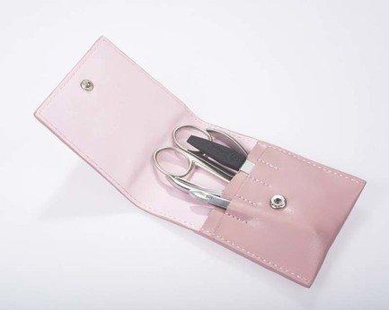 Маникюрный набор GD, 4 пр., матовое покрытие, нежно-розовый 1523ROS GD маникюрный набор 5 пр в чехле из натуральной кожи желто оранжевый 505yo dewal