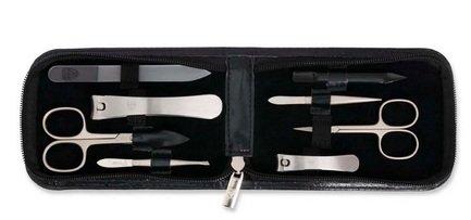 Маникюрный набор для мужчин, 8 пр., черный 5290 F N-MATT Drei Schwerter