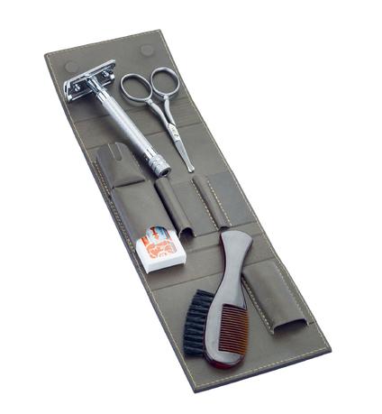 Набор бритвеный дорожный, 4 пр., в футляре из кожи, коричневый 575056 Dovo набор инструментов gembird tk basic 12 пр