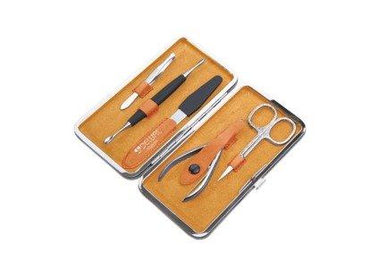 Маникюрный набор, 5 пр., в чехле из натуральной кожи, желто-оранжевый 505YO Dewal маникюрный набор 5 пр в чехле из натуральной кожи желто оранжевый 505yo dewal