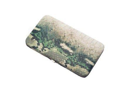 Маникюрный набор, 7 пр., в футляре из натуральной кожи, зеленый, рептилия 1544SN-3 GD маникюрный набор gd 5 пр футляр из натуральной кожи синий 1552blom gd