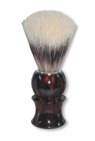 Помазок для бритья, 11 см, коричневый, ворс барсука