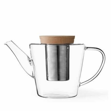 Чайник заварочный Infusion с ситечком (1.2 л), прозрачный V74900 Viva Scandinavia заварочный чайник примула 600 мл