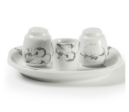 Фото - Набор для специй Black Apple, 4 пр 009104 2241 Tunisie Porcelaine блюдо black apple 40 см 550640 2241 tunisie porcelaine