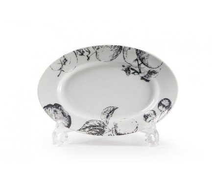 Фото - Блюдо овальное Black Apple, маленькое, 23.5х16 см 531824 2241 Tunisie Porcelaine блюдо презентационное blue sky 32 см 580632 0897 tunisie porcelaine