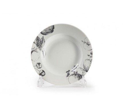 Фото - Тарелка глубокая Black Apple, 22 см 530222 2241 Tunisie Porcelaine блюдо black apple 40 см 550640 2241 tunisie porcelaine