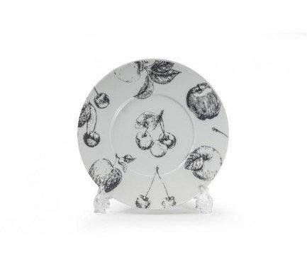 Фото - Тарелка Black Apple, широкий борт, 23 см 830123 2241 Tunisie Porcelaine блюдо black apple 40 см 550640 2241 tunisie porcelaine